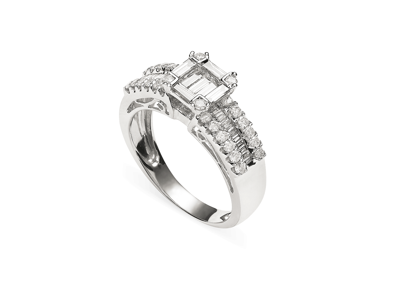 Anel diamantes