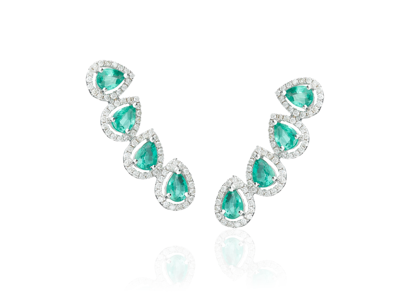 Ear Cuff Four Esmeralds