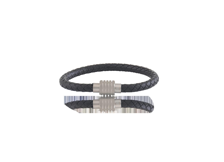 Bracelete ROSSO Couro Balck