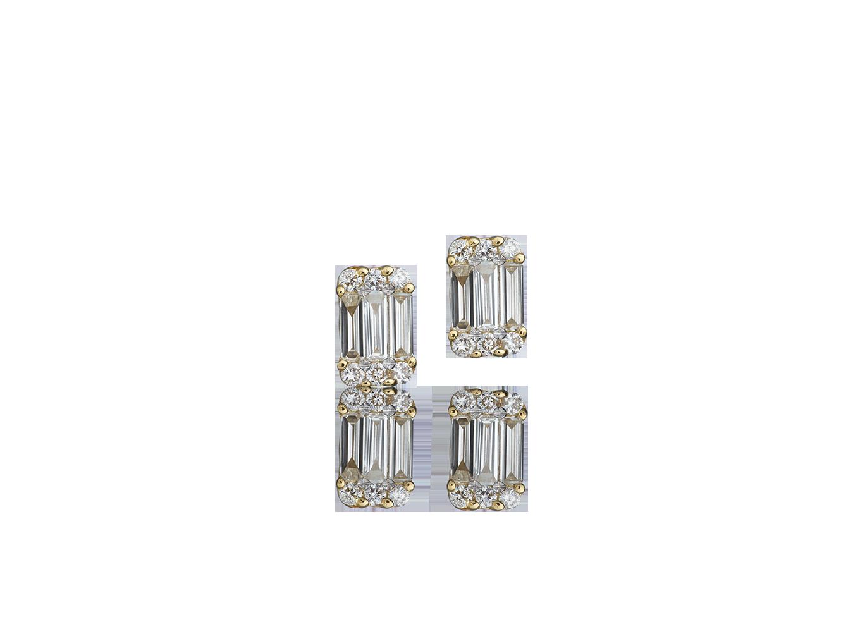 Brinco Diamantes Rich Square