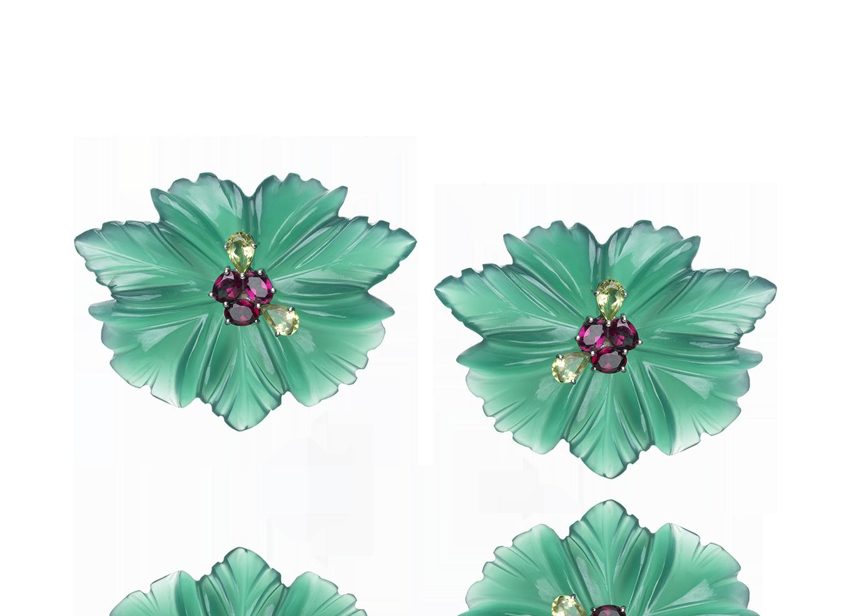 Brinco Onyx Flower