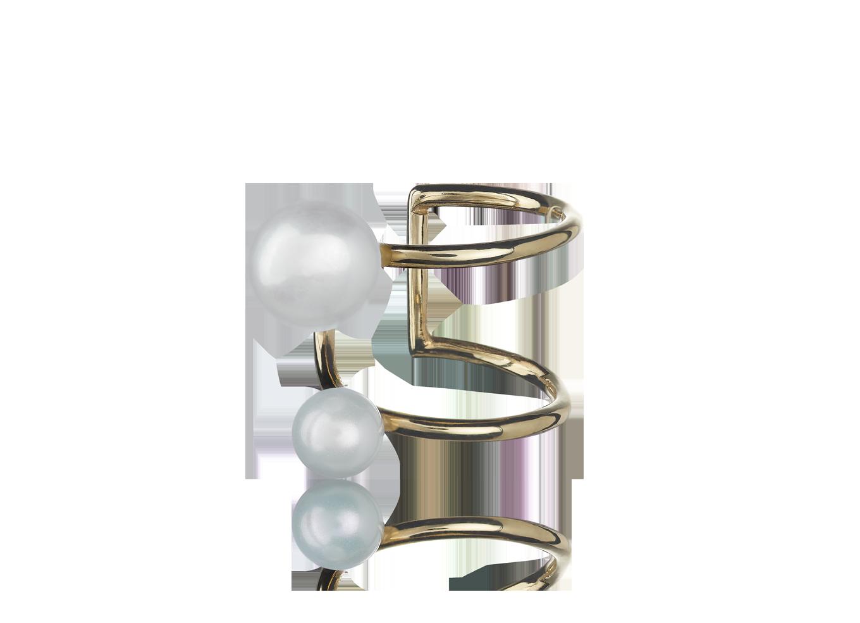 Brinco Twin Pearls