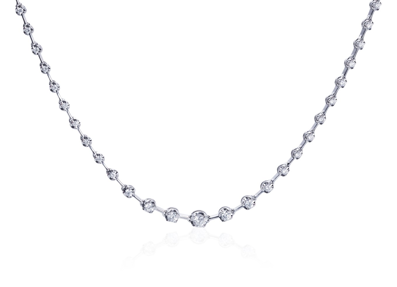 Gargantilha Riviera Diamantes ouro branco