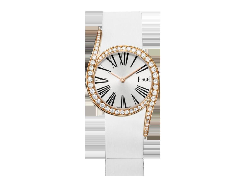 0dcafb331e6 Piaget Limelight. Caixa de ouro rosa 18kt. Bracelete de couro ...