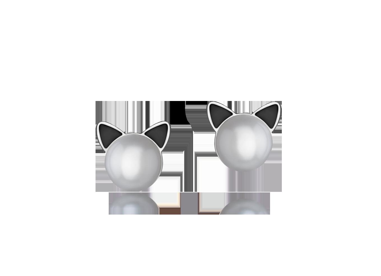 Brinco Sparkly Cats Prata P