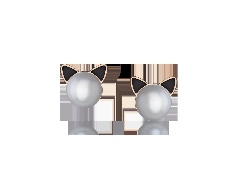 Brinco Sparkly Cats Rosé G