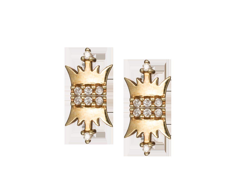 Brinco Infantil Coroas de Princesa