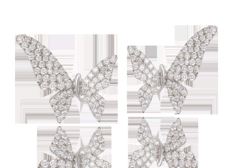 Brinco Butterfly Ouro Branco