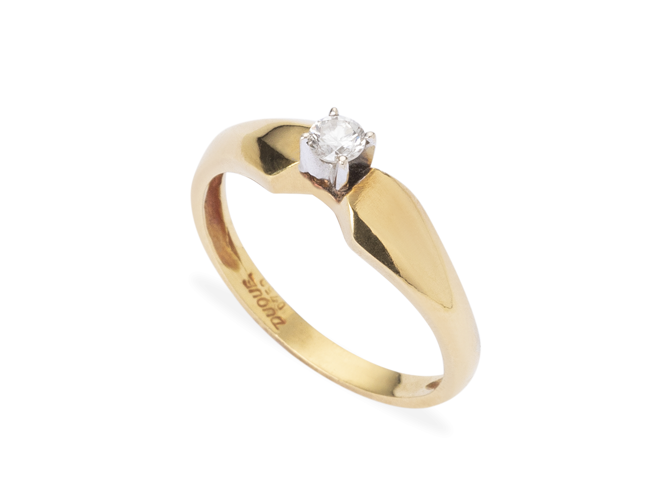 Anel Lonely Yellow Gold