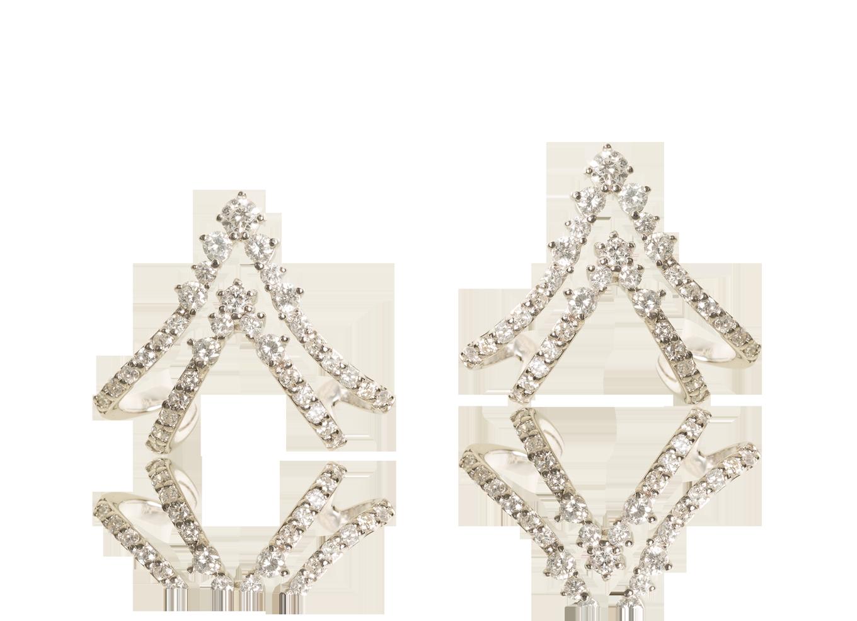 Brinco Crown Ouro Branco